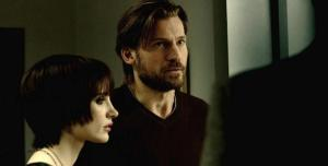 Annabel (Jessica Chastain) and Lucas (Nikolaj Coster-Waldau) talking with Dr. Dreyfuss. Lucas is determined to foster his late-brother's daughters, despite their problems.