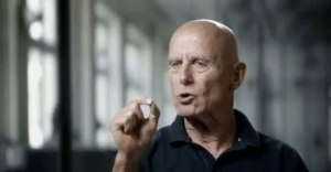 Ami Ayalon, the most passionate of the six men, giving a political opinion on Israel's current security situation.