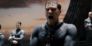General Zod (Michael Shannon) declaring his strategy on Krypton.