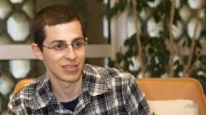 Gilad Shalit, as he looks today. Although skinny, he looks happy and healthy.