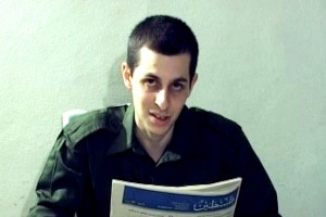 Gilad Shalit, looking pale and gaunt whilst in captivity, wherein he was not allowed to go outside for five and a half years.