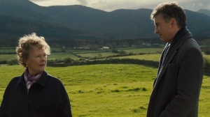Philomena in her senior years (played by Judi Dench) talking about her past with Martin Sixsmith (Steve Coogan) in the Irish countryside.