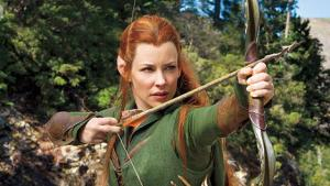 Tauriel (Evangeline Lilly), the uniquely badass elf, showing the orcs what she's made of.