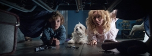 Amelia (Essie Davis) with her son, Samuel (Noah Wiseman), looking under the bed to make sure that no monsters are there.