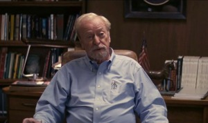 Professor Brand (Michael Caine) explaining the mission and its purpose to Cooper (Matthew McConaughey)