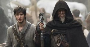 Tom (Ben Barnes) and John Gregory (Jeff Bridges), pupil and mentor, going from place to place in classic fantasy style.