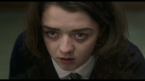 Lydia looking terrible, haunted even, as she tries to convince her teachers that the fainting epidemic is real and that she and her friends are not making it up.