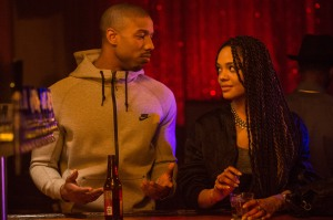 Adonis Creed out with Bianca (Tessa Thompson).