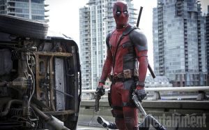 Wade in his Deadpool spandex, taking out those who are either after him or who disfigured him.