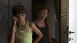 The dorable twins, Elias and Lukas, entering into their mother's room... where they shouldn't be entering.