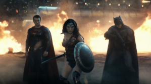 Superman and Batman on the same side (shocking!), along with Wonder Woman (centre, Gal Gadot), to take down Doomsday.