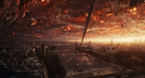 The aliens unleashing their arsenal upon London. (Haven't we seen this sight before?)