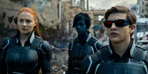 The new mutants: young Jean Grey (Sophie Turner, left), Nightcrawler (Kodi Smit-McPhee, centre) and Cyclops (Tye Sheridan, right) in the thick of the action, trying to stop Apocalypse from carrying his plan to destroy the world.