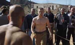 Jason Bourne (Matt Damon), having gone into hiding from the CIA, fights in (quasi-legal) bare-knuckle duels to make a living.