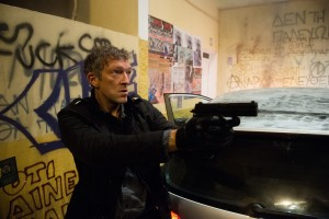 The Asset (Vincent Cassel) trying to keep up with Bourne.