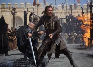 Aguilar the Assassin fighting men of the Knight's Templar.