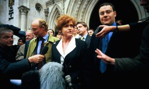 The real Deborah Lipstadt with her legal team, back in 2000, after her victory.
